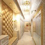 l'idée d'un beau décor du couloir dans une photo de maison privée