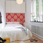 idée d'un beau décor d'une photo de chambre étroite