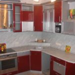 opțiune de imagine de design de bucătărie design roșu