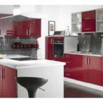 ideea unei frumoase imagini de design roșu de bucătărie