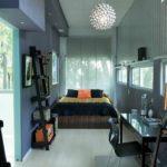 idée d'un décor lumineux d'une photo de chambre étroite