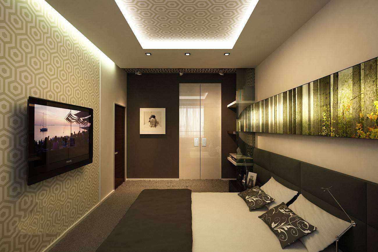 Un exemple de la conception lumineuse d'une chambre étroite