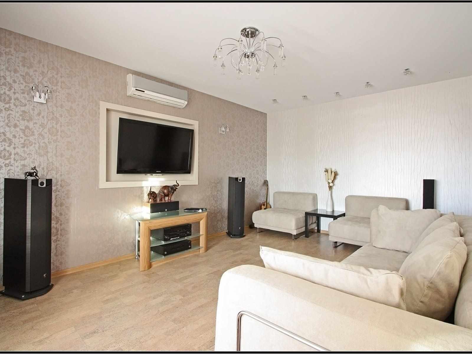 ý tưởng về một phong cách khác thường của giấy dán tường cho phòng khách