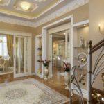 version du style lumineux du couloir d'une chambre dans une maison privée photo