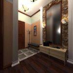 exemple d'un beau décor du couloir d'une chambre dans une maison privée photo