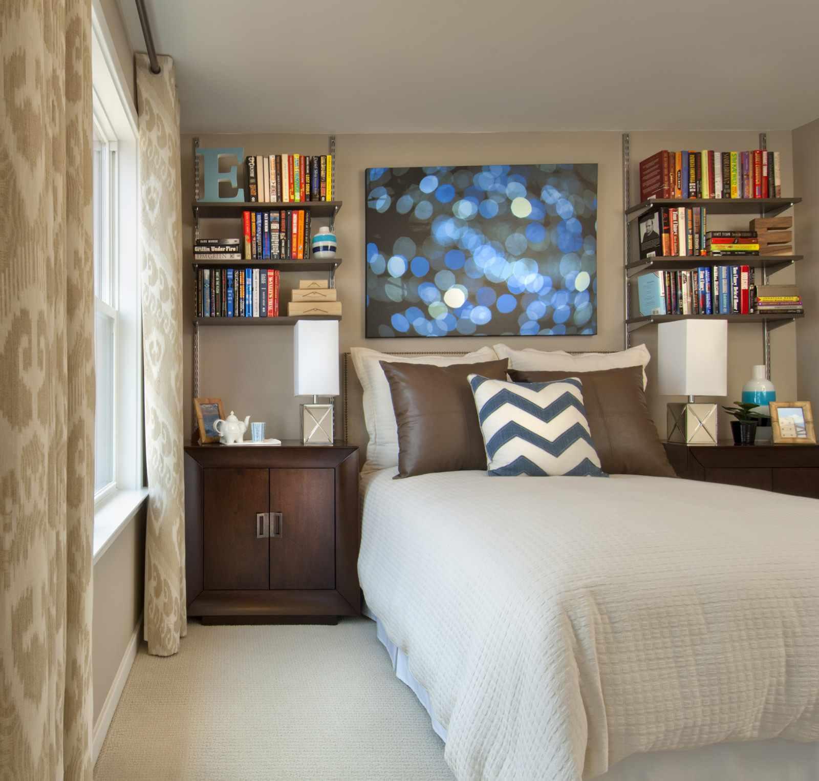 l'idée d'une chambre étroite de style lumineux