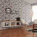version du décor inhabituel de papier peint pour le salon photo