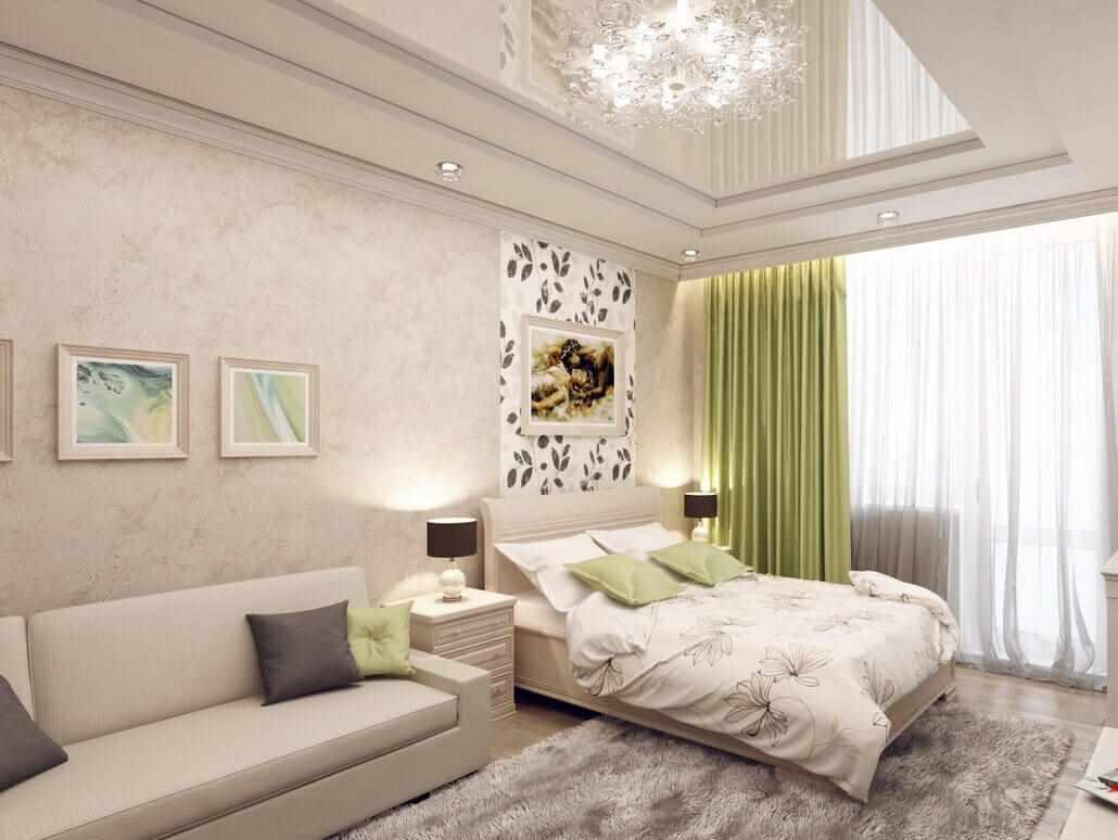 idée d'un intérieur lumineux d'une chambre de 15 m²