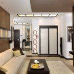 ý tưởng áp dụng một thiết kế đẹp của phòng khách theo phong cách tranh tối giản