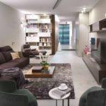 tùy chọn sử dụng nội thất khác thường của phòng khách theo phong cách ảnh tối giản