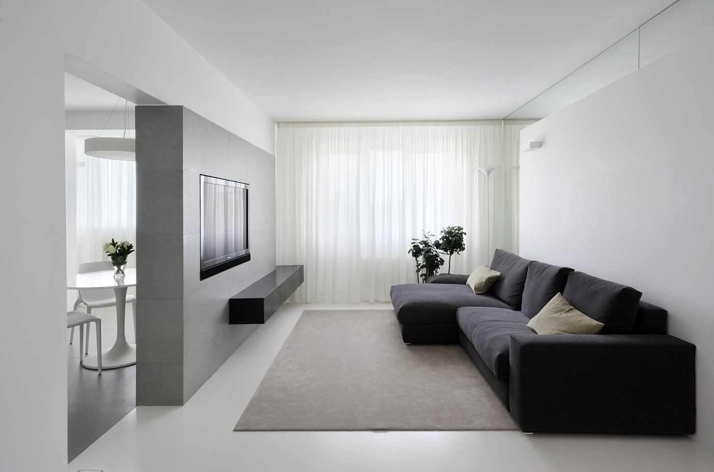 ý tưởng sử dụng trang trí ánh sáng của phòng khách theo phong cách tối giản