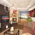 l'idée d'un beau décor d'un salon photo de 16 m²