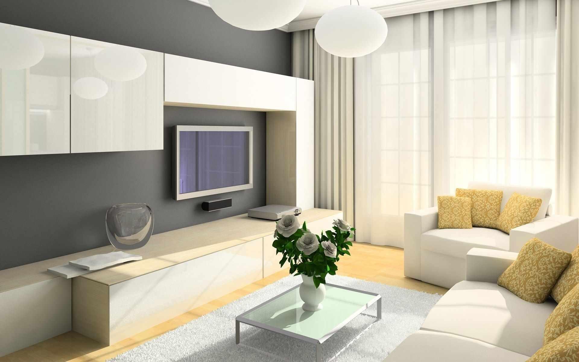 variante d'un beau décor d'un salon 16 m²