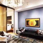 idée d'un intérieur insolite d'un salon photo 16 m²