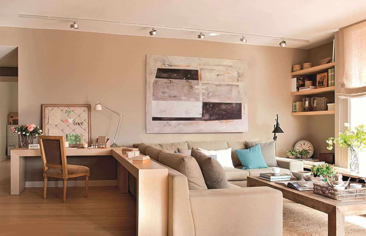 Một ví dụ về phòng khách phong cách tươi sáng 19-20 m2