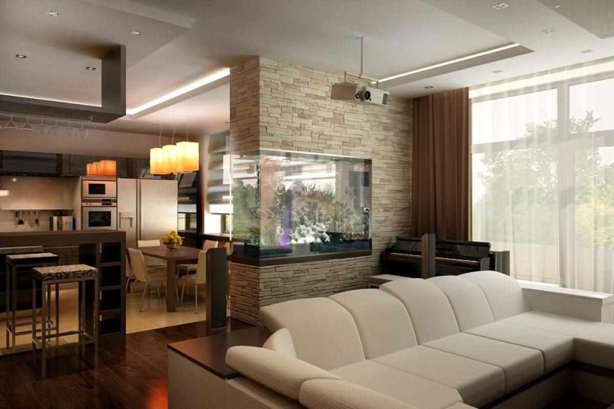 Un exemple d'un beau décor d'une pièce à vivre de 17 m²