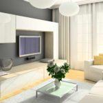 idée d'un décor lumineux d'un salon photo de 25 m²
