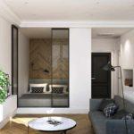 exemple d'un intérieur insolite d'un salon photo de 25 m²