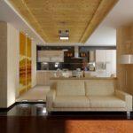 biến thể của trang trí khác thường của phòng khách hình ảnh 19-20 m2