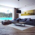 ý tưởng sử dụng nội thất đẹp của phòng khách theo phong cách ảnh tối giản