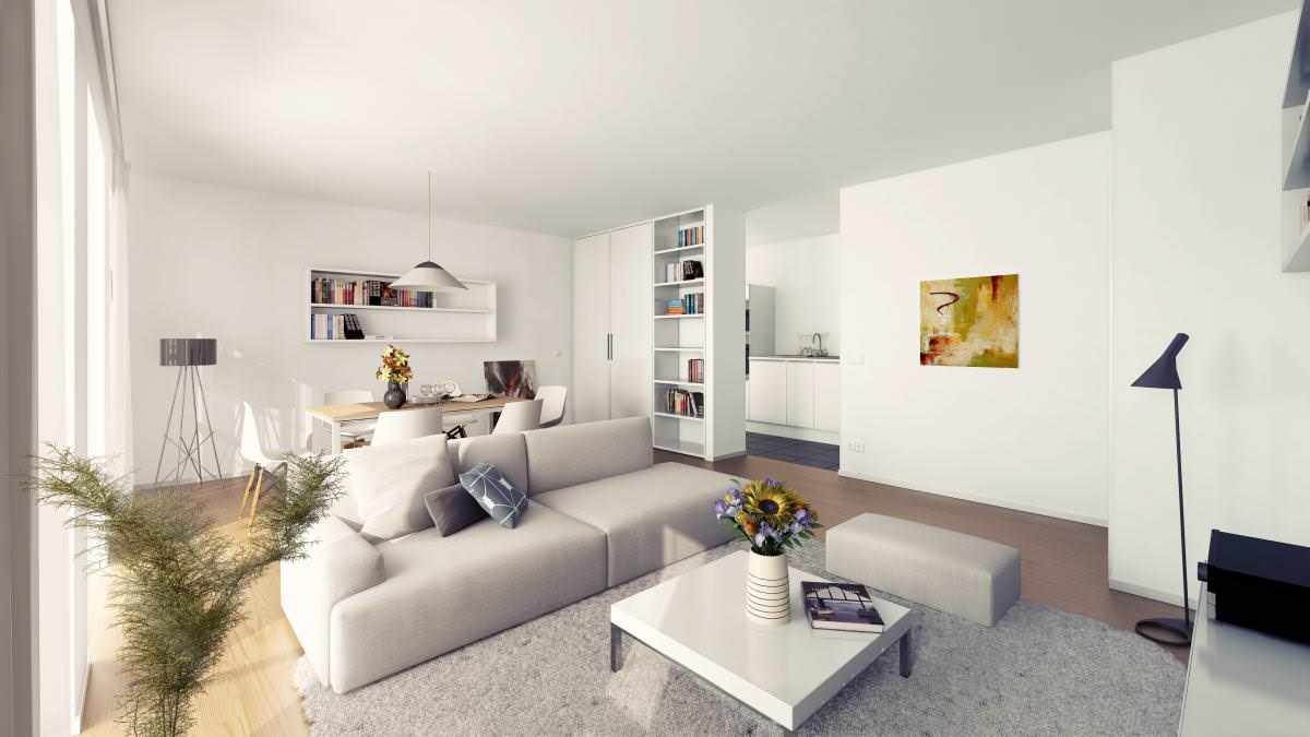 ý tưởng sử dụng nội thất phòng khách đẹp theo phong cách tối giản