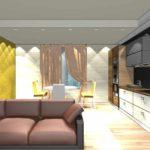 một ví dụ về việc sử dụng nội thất sáng sủa của phòng khách theo phong cách ảnh tối giản