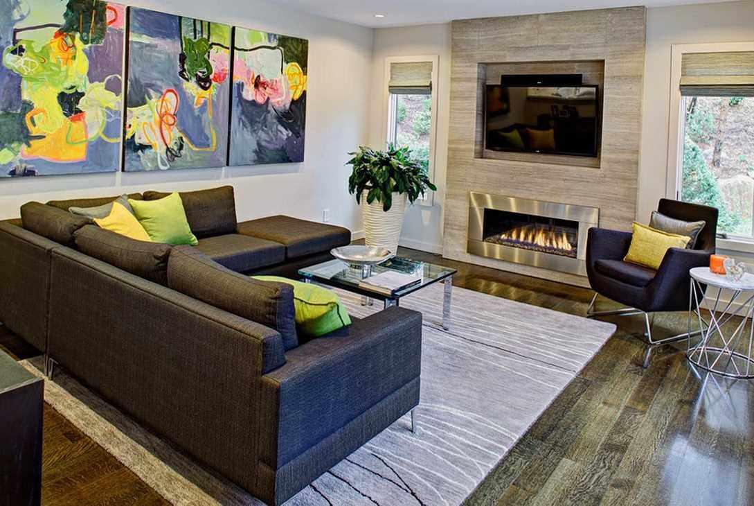ý tưởng thiết kế đẹp của phòng khách 19-20 m2