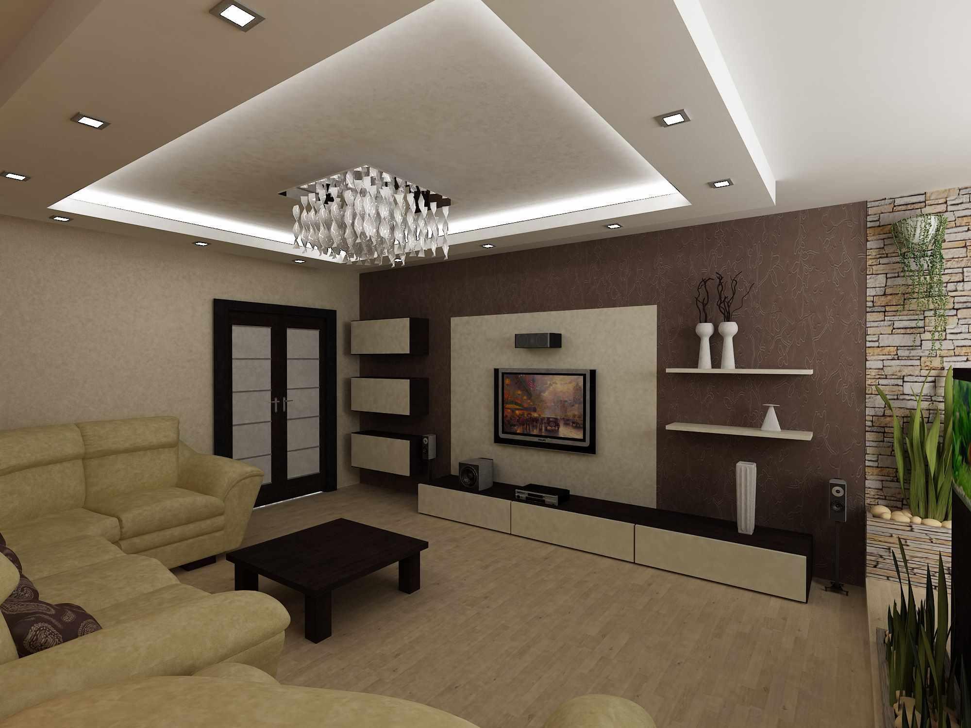 l'idée d'un beau salon intérieur de 25 m²