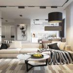 idée d'un intérieur lumineux d'un salon photo 16 m²