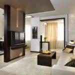 Un exemple de style lumineux d'un salon 17 m² photo