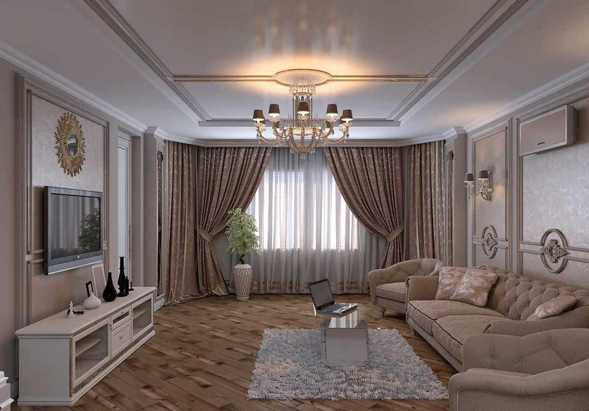 biến thể của thiết kế sáng sủa của phòng khách 19-20 m2