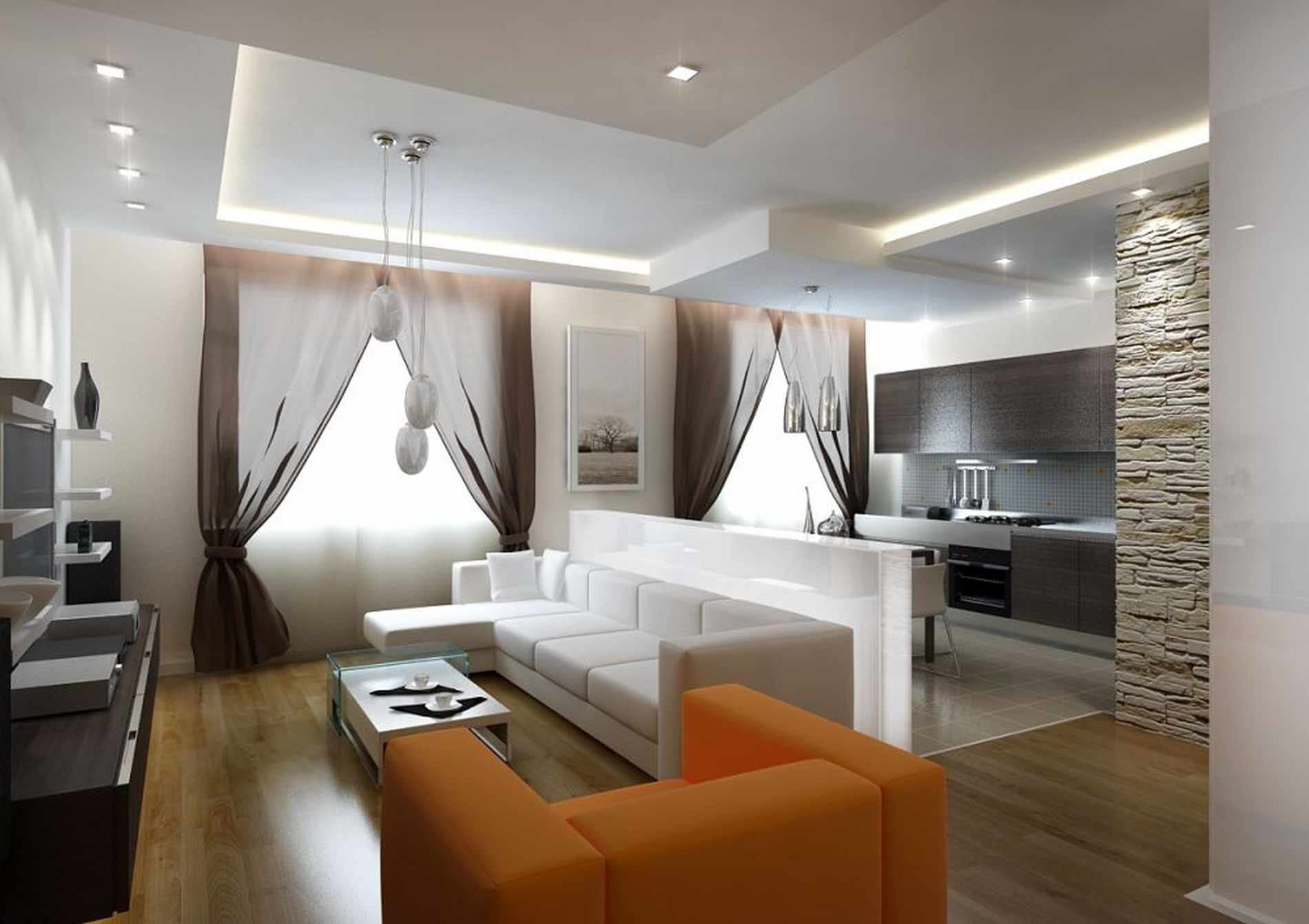 l'idée d'un salon lumineux de 25 m²
