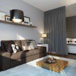 exemple d'un beau design d'un salon 17 m² photo