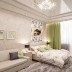 ví dụ về một trang trí đẹp của một phòng khách hình ảnh 19-20 m2