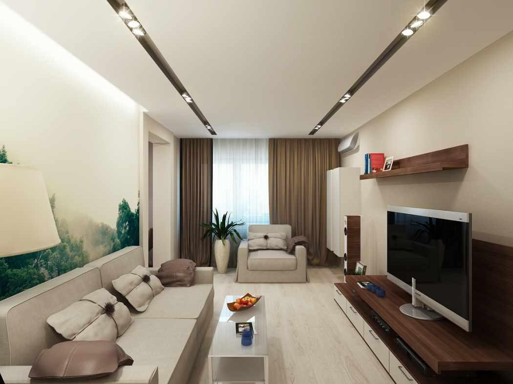 phiên bản ứng dụng thiết kế sáng sủa của phòng khách theo phong cách tối giản