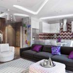ý tưởng sử dụng nội thất đẹp của phòng khách theo phong cách tranh tối giản