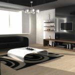 tùy chọn sử dụng thiết kế ánh sáng của phòng khách theo phong cách hình ảnh tối giản