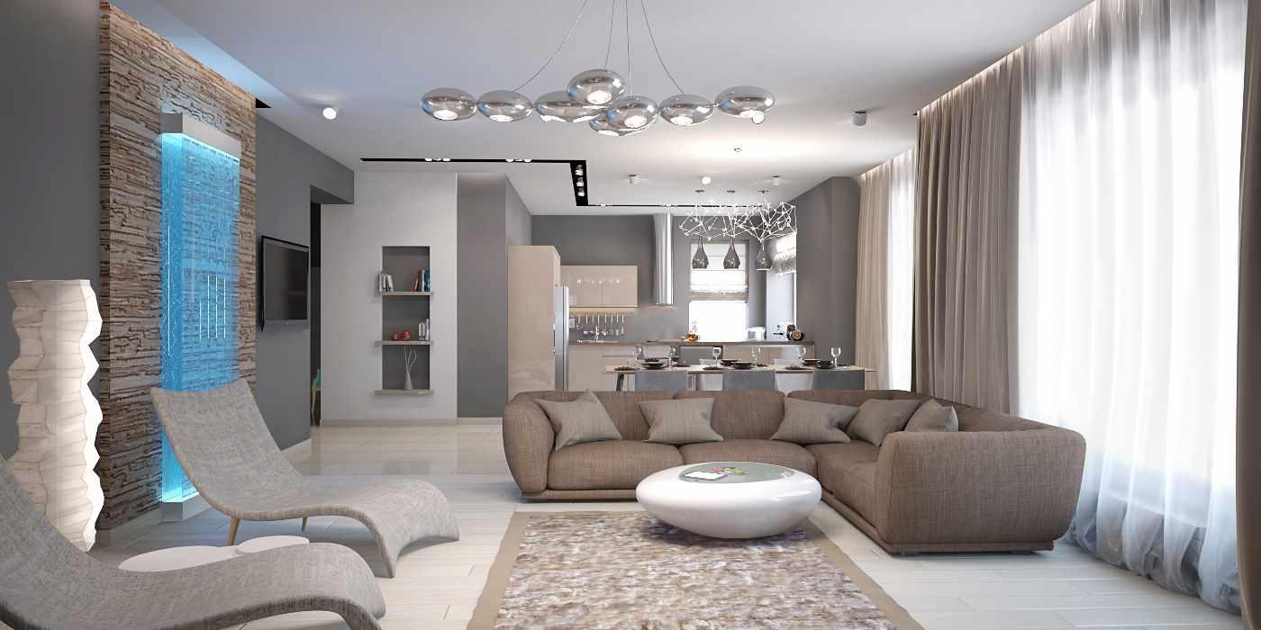 ý tưởng sử dụng trang trí khác thường của phòng khách theo phong cách tối giản
