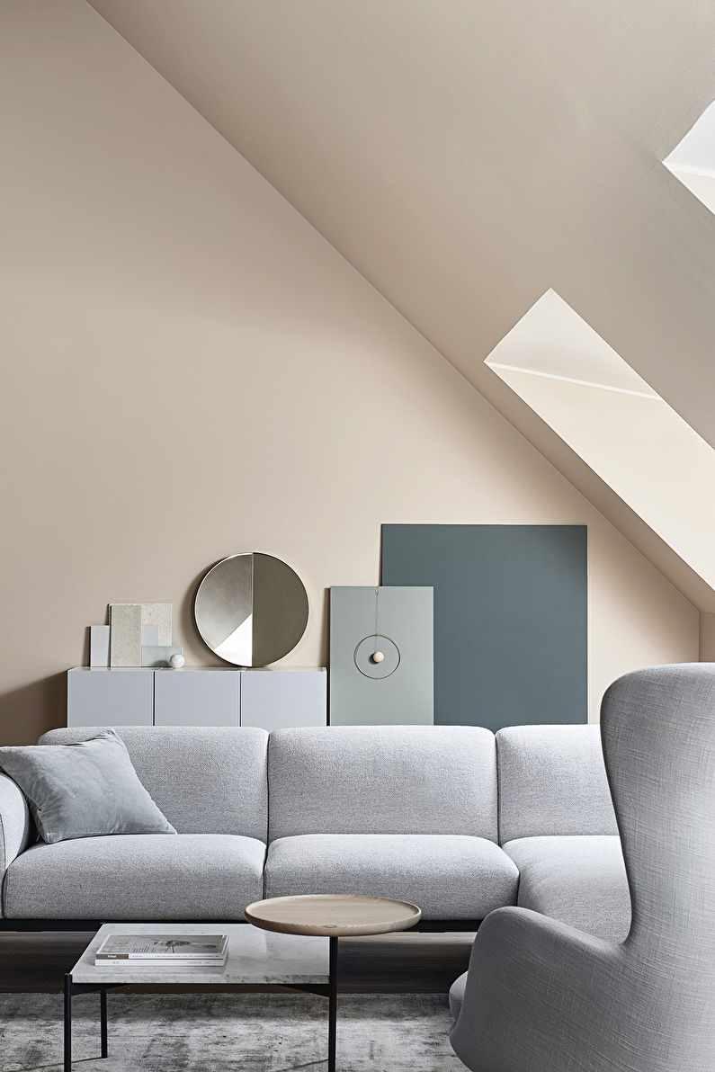 lựa chọn sử dụng trang trí tươi sáng của phòng khách theo phong cách tối giản