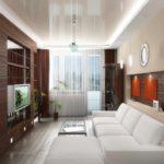 Un exemple d'un décor lumineux d'un salon photo 16 m²