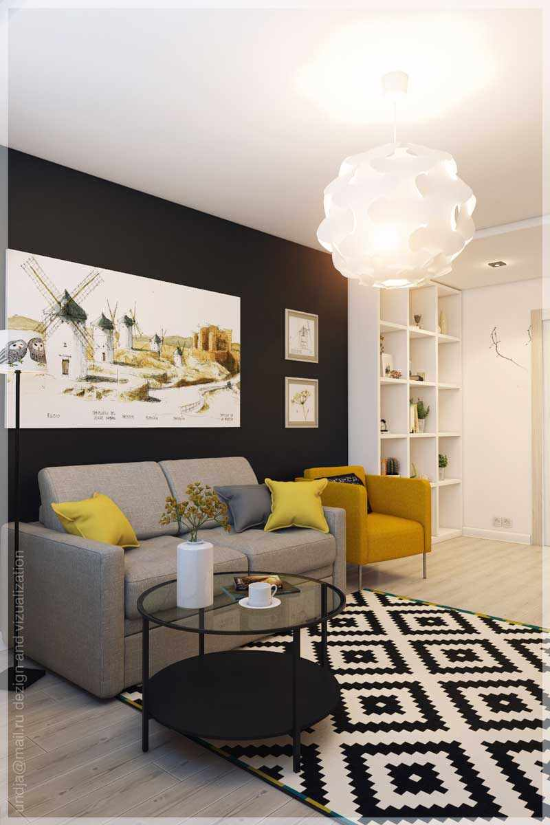 Un exemple d'un beau décor d'un salon de 16 m²