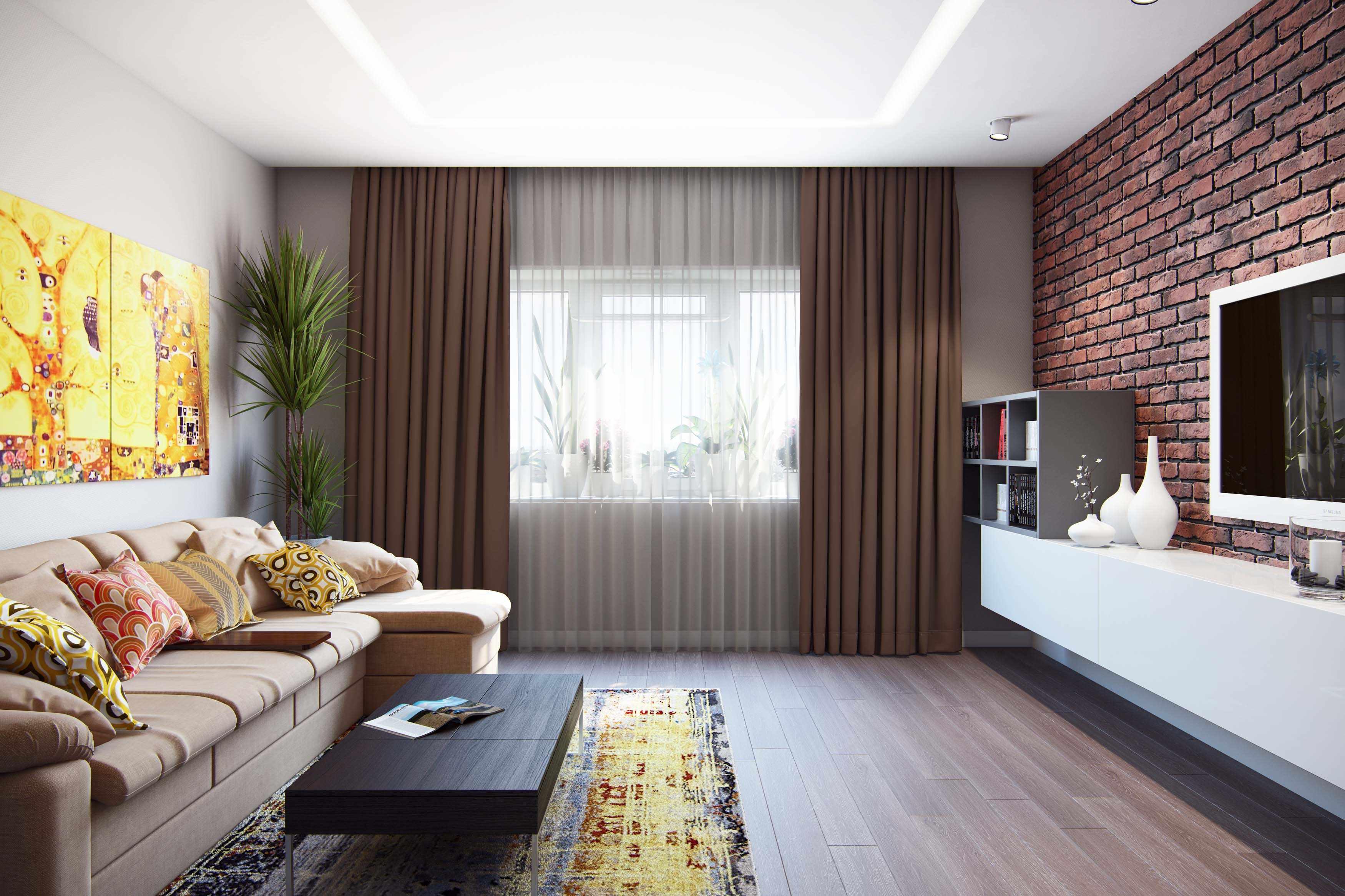 Un exemple de décoration lumineuse d'un salon de 17 m²
