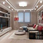 exemple d'un intérieur lumineux d'un salon photo de 25 m²