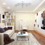 l'idée d'un style insolite d'un salon photo de 17 m²