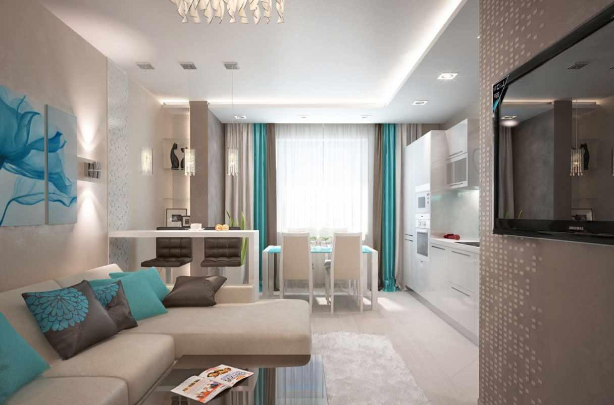 biến thể của nội thất đẹp của phòng khách 19-20 m2