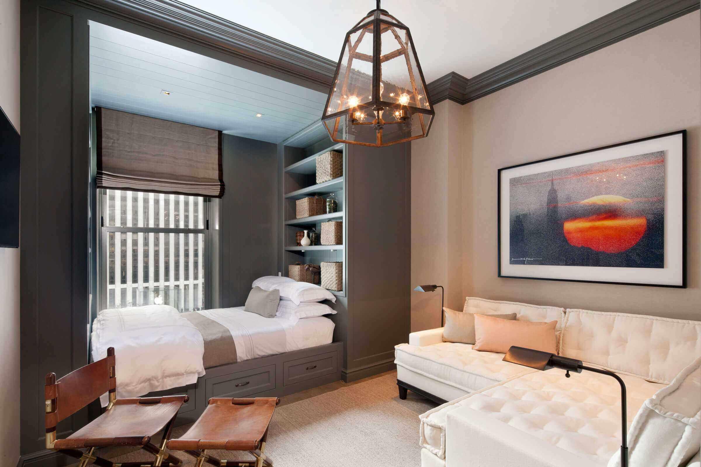 Un exemple de design lumineux d'un salon de 25 m²
