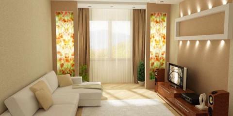 variante d'un intérieur lumineux d'un salon 16 m² photo
