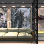 exemple d'un design insolite d'un salon photo 16 m²