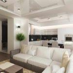 version du beau design du salon photo 17 m²