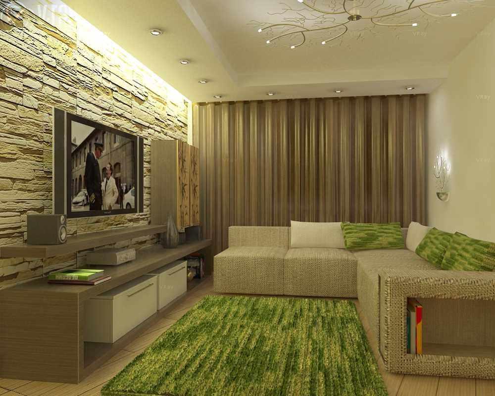 phiên bản thiết kế khác thường của phòng khách 19-20 m2